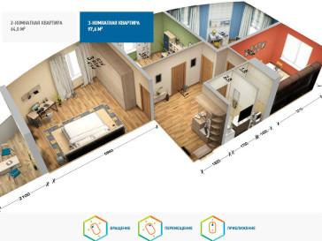 Интерактивные 3D туры (визуализация)