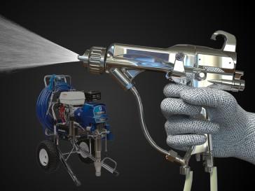 Создание 3d модели и визуализация распылительного пистолета