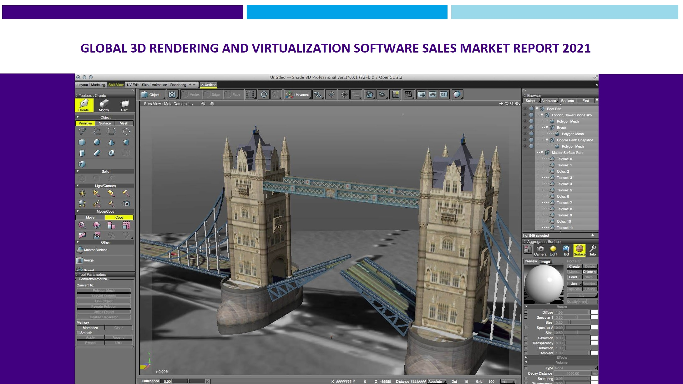 Global 3D Rendering and Virtualization Software Sales Market Report 2021.