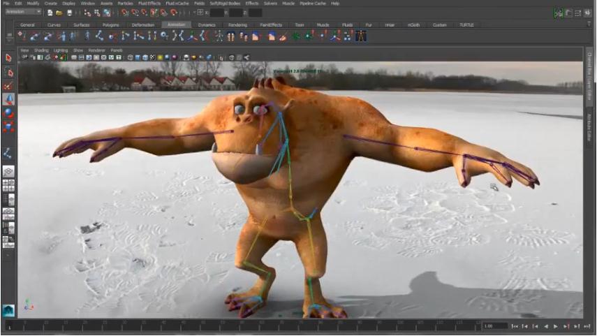 Комплексное программное обеспечение для 3D-анимации.