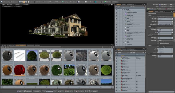Примеры программного обеспечения 3D-рендеринга и виртуализации в архитектуре.