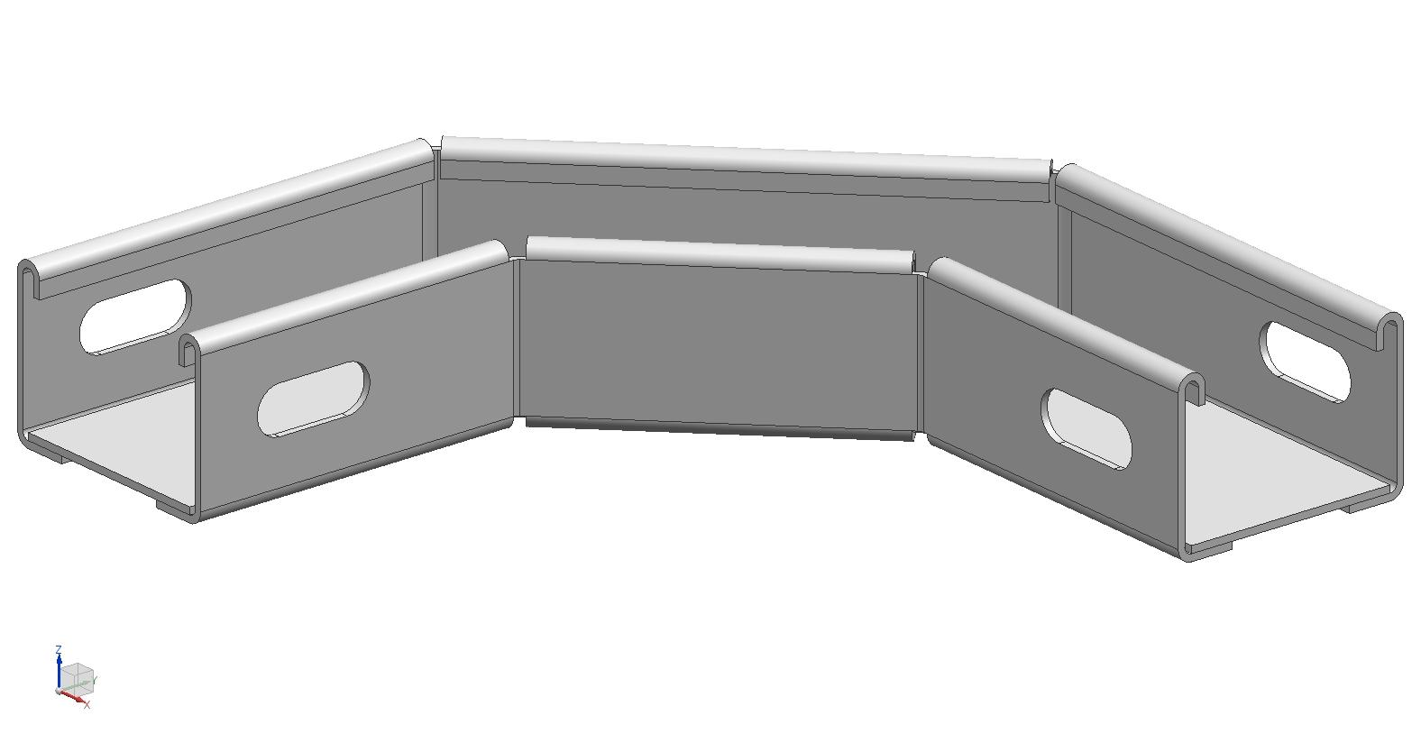 Угол (поворот) для кабельного лотка